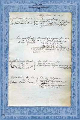 1818 MAY TERM, LYCOMING COUNTY, PENNSYLVANIA COURT PAGES 3-4
