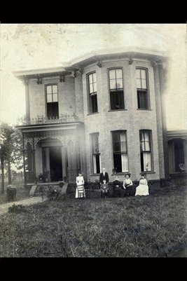 Farthing Family Home on Cuba Road, Graves County, Kentucky bef. 1887