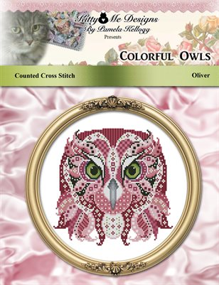Colorful Owls Oliver Counted Cross Stitch Pattern