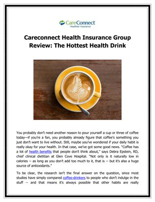 Careconnect Health Insurance Group Review: The Hottest Health Drink
