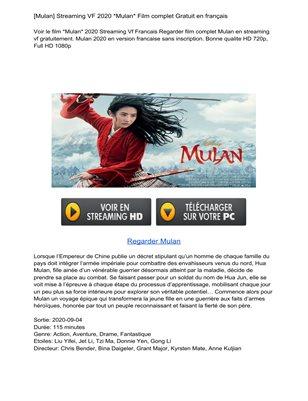 HD.1080p…!!  Mulan (2020) Full Watch online free