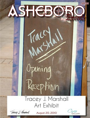 Asheboro Events Magazine, Tracey L. Marshall Art Exhibit at Circa Gallery