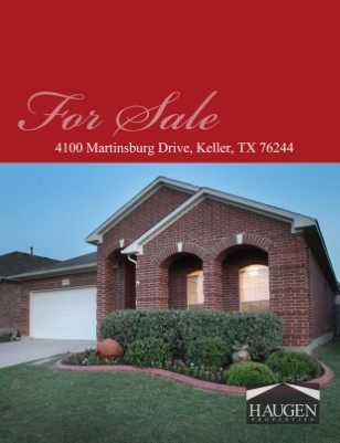 Haugen Properties - 4100 Martinsburg Drive, Fort Worth, 76244