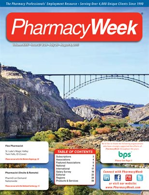 Pharmacy Week, Volume XXIV - Issue 27 & 28 - July 26 - August 8, 2015
