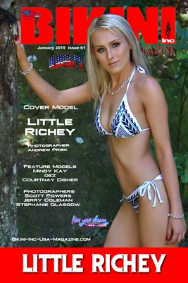 BIKINI INC USA MAGAZINE - Cover Model Little Richey - January 2019