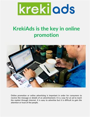 KrekiAds is the key in online promotion