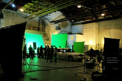 Limo on NYC Motion Picture 'Green Screen' Set Filming Bachelorette 2012