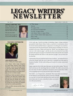 Legacy Writers' Newsletter 1:2