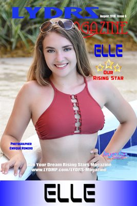 LYDRS MAGAZINE COVER POSTER - Rising Star Elle - August 2018