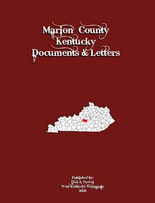 MARION COUNTY, KENTUCKY DOCUMENTS & LETTERS