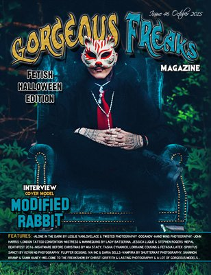Issue 46 Fetish Halloween Edition Cover Model: Modified Rabbit