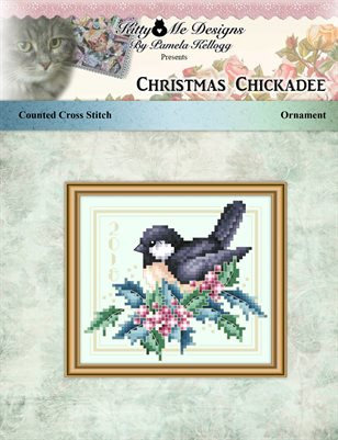 Christmas Chickadee Christmas Ornament Cross Stitch Pattern