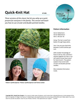 Quick-Knit Hat, 2 pages