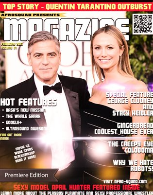 The Magazine - Cover George Clooney and Stacy Keibler