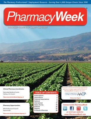 Pharmacy Week, Volume XXIV - Issue 23 & 24 - June 21 - July 11, 2015