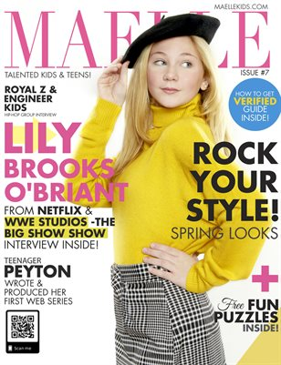 Maelle Kids Magazine Issue 7 | Lily Brooks O'Briant from Netflix The Big Show Show