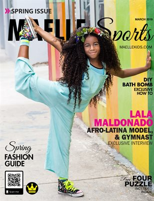Maelle kids Sport Magazine March 2019 -Lala Maldonado -Afro Latina