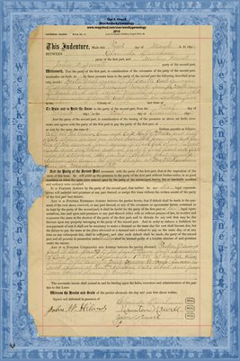1895 General Lease, Clarinda Dunham & Newton and John Newell, Tazewell County, IL.