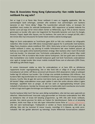 Hass & Associates Hong Kong Cybersecurity: Kan redde bankene nettbank fra seg selv?