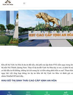 Khu do thi Vinh An Hoa - Nha Dat VIP