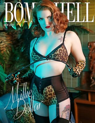 BOMBSHELL Magazine November 2019 BOOK 1 - Millie Dollar Cover