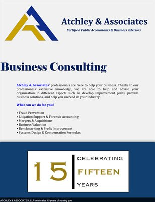 Atchley & Associates LLP: Business Consulting
