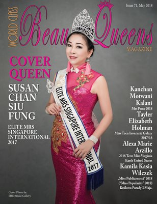 World Class Beauty Queens Magazine, Issue 71 with Susan Chan Siu Fung