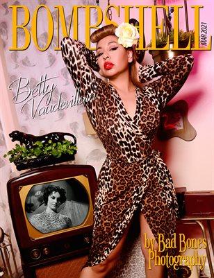 BOMBSHELL Magazine March 2021 - Betty Vaudevillain Cover