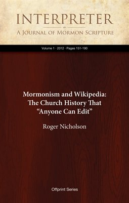 "Mormonism and Wikipedia: The Church History That ""Anyone Can Edit"""