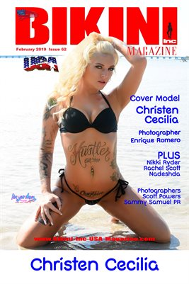 BIKINI INC USA MAGAZINE COVER POSTER - Cover Model Christen Cecilia - February 2019