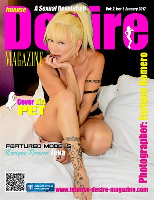 INTENSE DESIRE MAGAZINE - Cover Girl Pet - January 2017