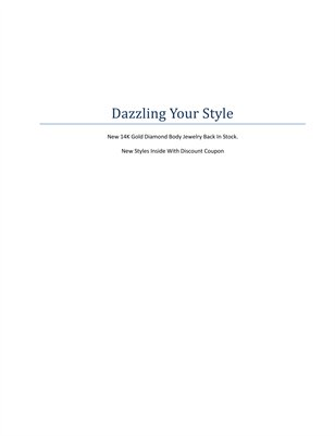 Dazzling Your Style Summer 2014