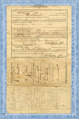 1898 Mortgage, Arnold to Nall, Butler County, Alabama
