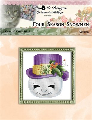 Four Season Snowmen Autumn Cross Stitch Pattern