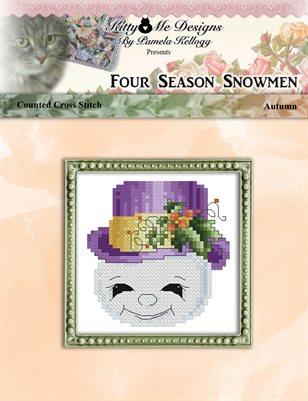 Four Season Snowmen Autumn Cross Stitch Pattern