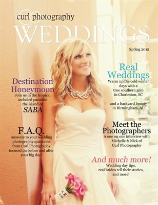Curl Photography - Weddings Spring 2012 Issue