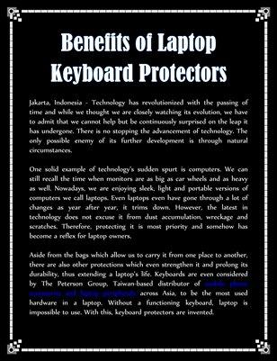 Benefits of Laptop Keyboard Protectors