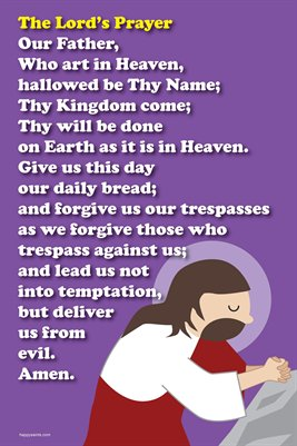 Happy Saints The Lord's Prayer Poster