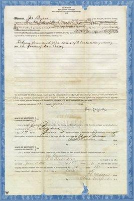 1915 Chattel Mortgage, Joe Byars to L.B. Blalock & Co., Graves County, Kentucky