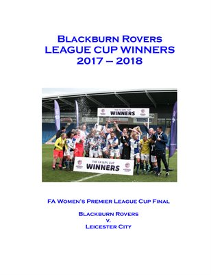 Blackburn Rovers - League Cup Winners - 2018