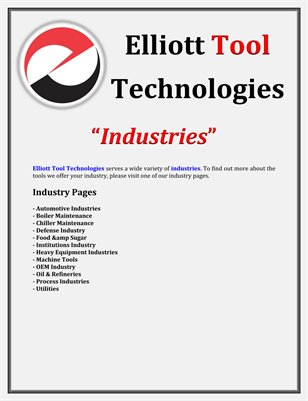 Elliott Tool Technologies: Industries