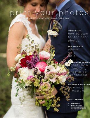 GREEN VINTAGE 2018 WEDDING BROCHURE
