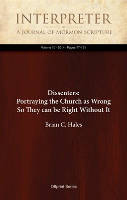 Dissenters: Portraying the Church as Wrong So They can be Right Without It