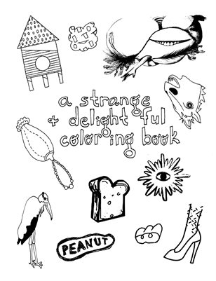 a strange and delightful coloring book