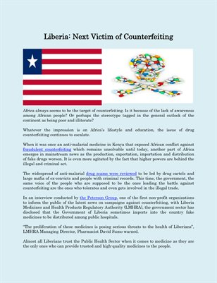 Liberia: Next Victim of Counterfeiting