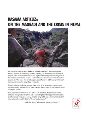 Kasama Articles: On the Maobadi and the Crisis in Nepal