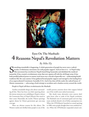 Eyes on the Maobadi: 4 Reasons Nepal's Revolution Matters