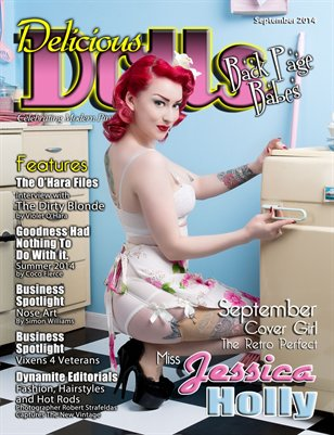 Delicious Dolls September 2014 Issue - Miss Jessica Holly Cover