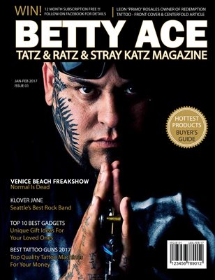 Betty Ace Tatz & Ratz & Stray Katz Magazine Jan-Feb #1 Issue