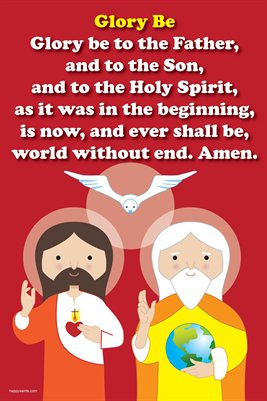 Happy Saints Glory Be Prayer Poster